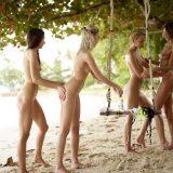 geiles fotoshooting mit 4 fast magersüchtigen jungen Girls am Karibikstrand #13_thumb